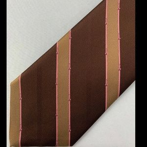 Brooks Brothers Men's Brown Striped Tie 100% Silk